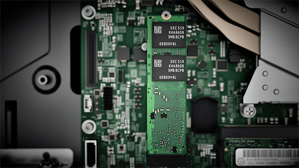Internal workings of the Lenovo V310z all-in-one.