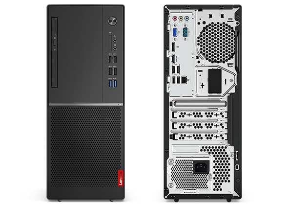 Lenovo V530 (AMD) Tower front and rear views