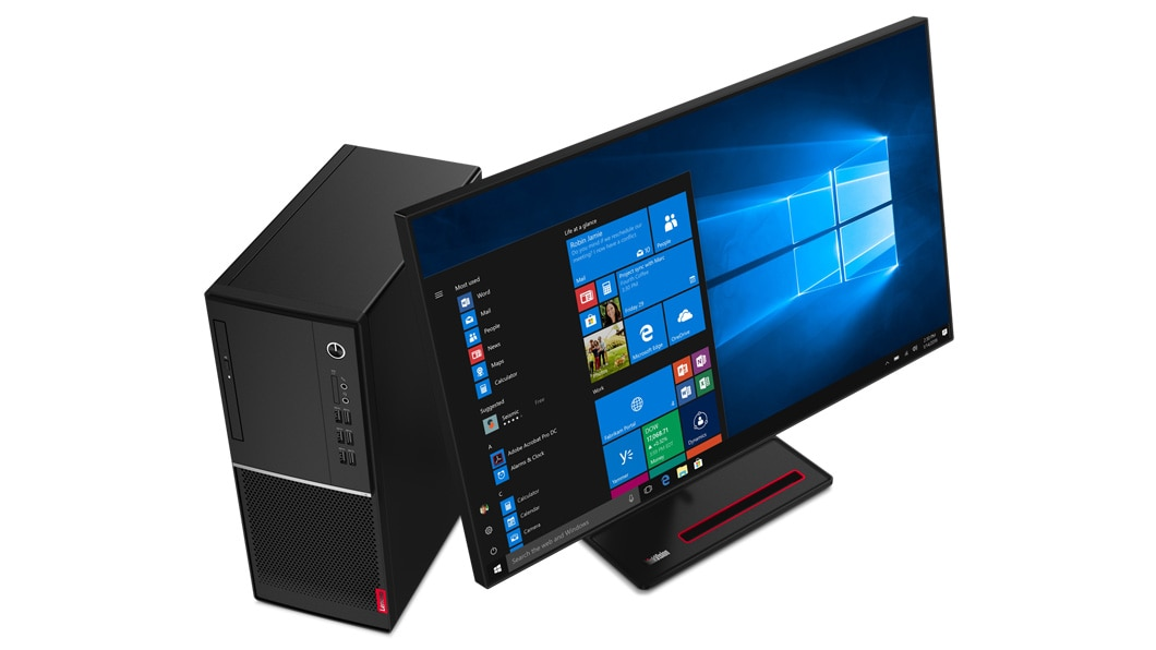 """Image result for Lenovo V530s-07ICR SFF Desktop PC SMALL FORM FACTOR With LENOVO 19.5"""" LED Monitor"""