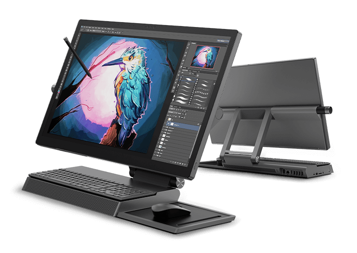 Lenovo Yoga A940 All-in-One, front & back views