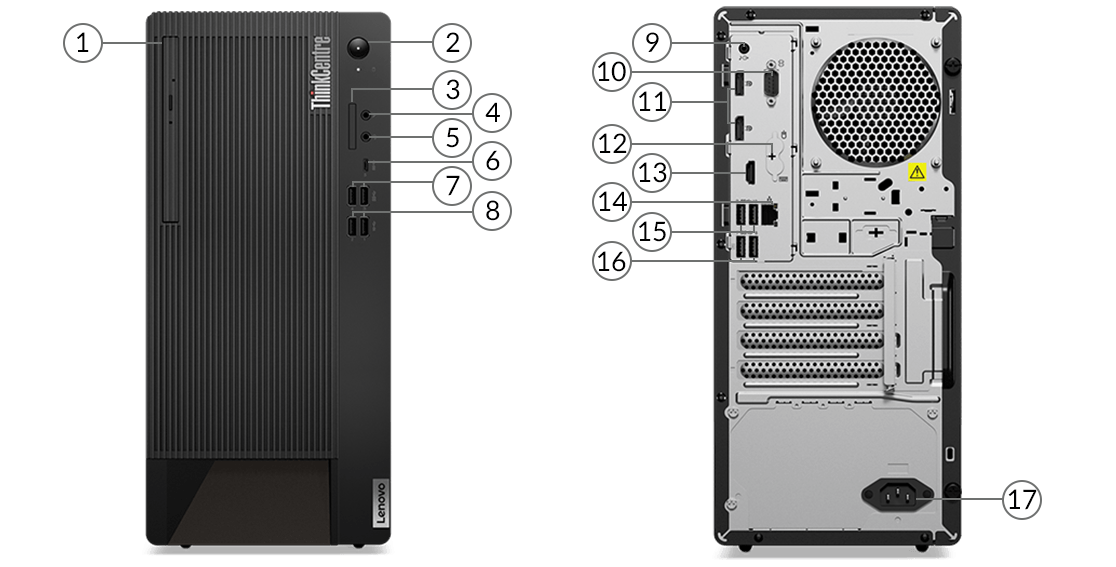 ThinkCentre M90t ports