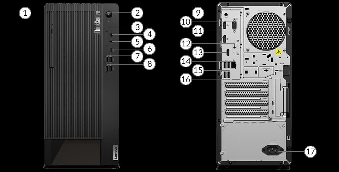 ThinkCentre M90t ports