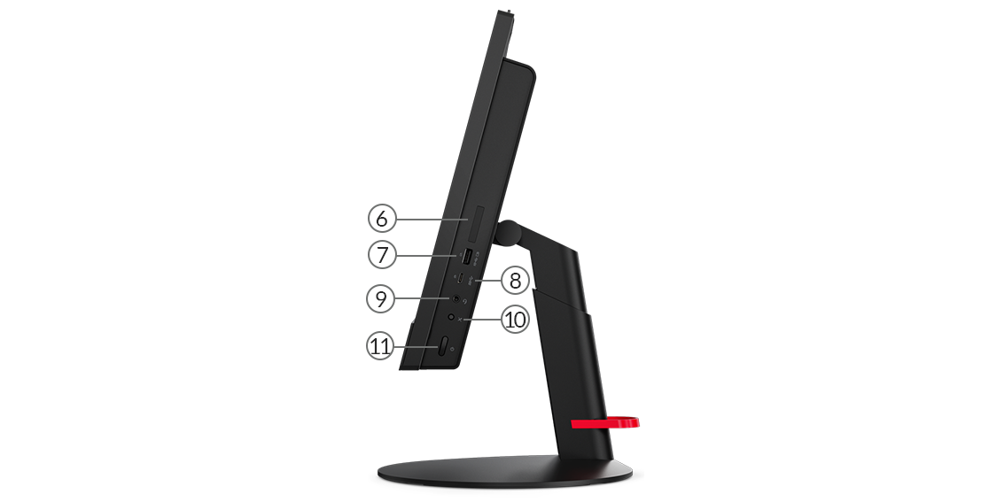 ThinkCentre m820z side view showing ports