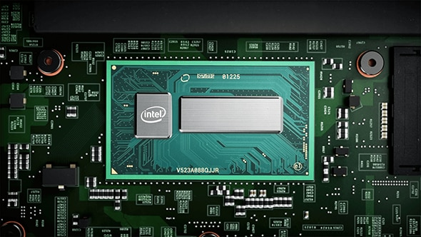 Intel processor closeup