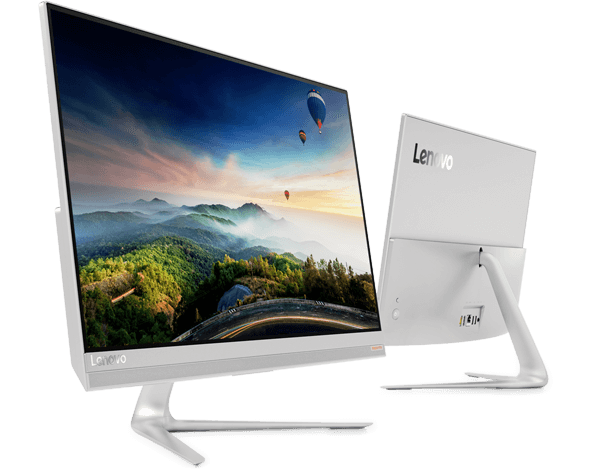 IdeaCentre AIO 520S front and back angle view