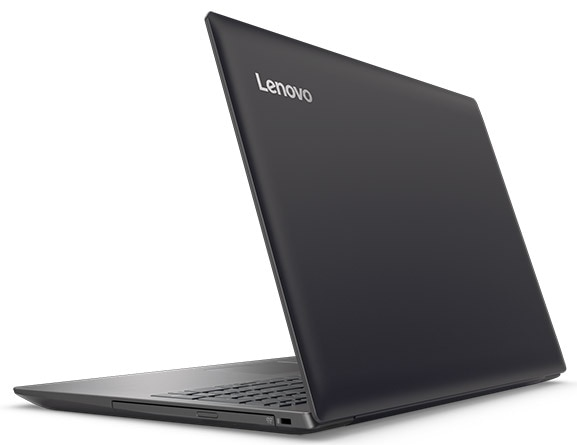 Lenovo Ideapad 320 (15) in Black, Back Right Side View