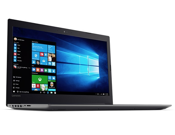 Lenovo Ideapad 320 (17) Front Left Side View Featuring Windows 10
