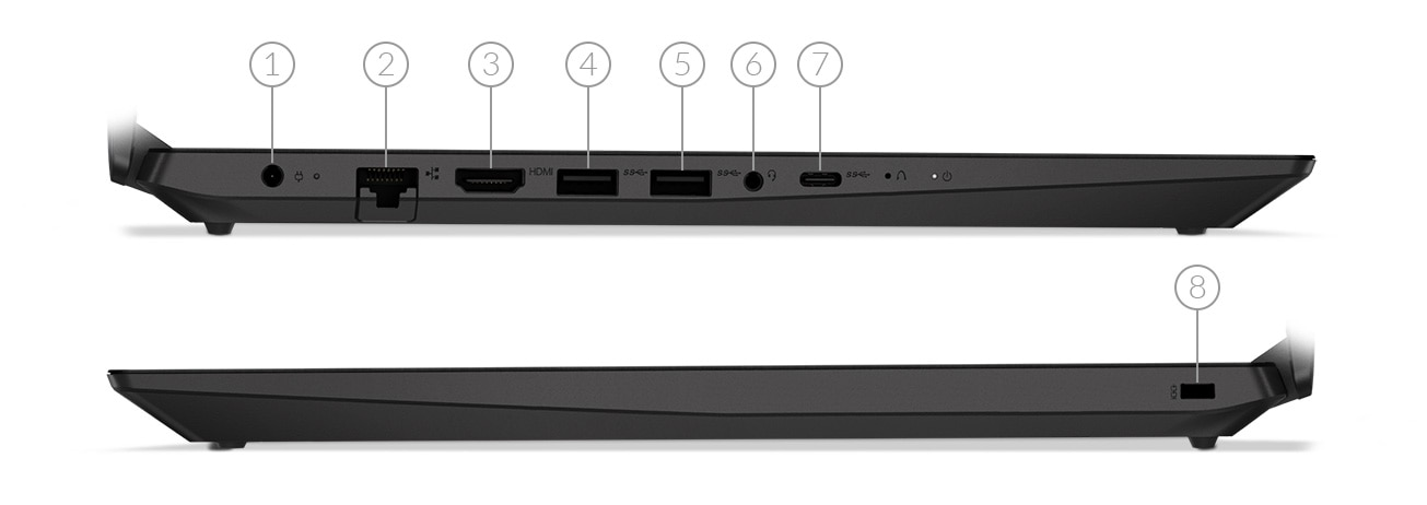 IdeaPad L340 (15) Gaming laptop side view ports