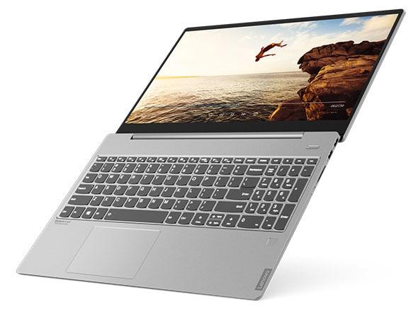 Lenovo IdeaPad S540 (15, Intel) laptop, angle view, laying flat