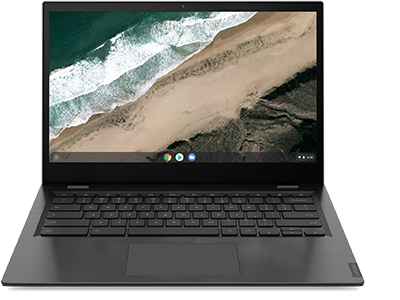 Lenovo Chromebook S345-14 front view with display