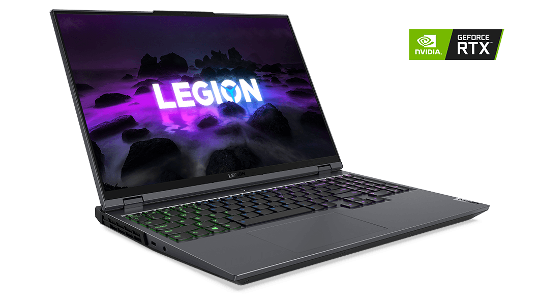 Lenovo Legion 5 Pro (16inch AMD), left front angle view