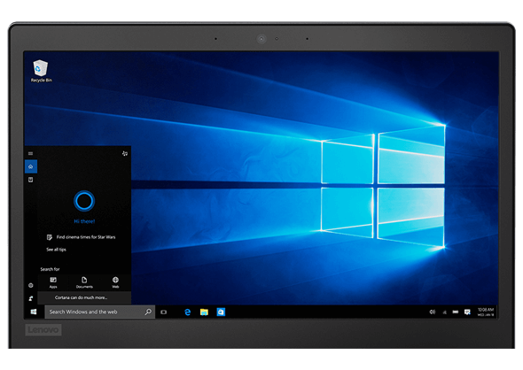 Lenovo Ideapad 120s Display Showing Windows Cortana