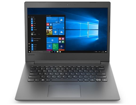 Lenovo Ideapad 130 (14), front view showing display, keyboard and touchpad.