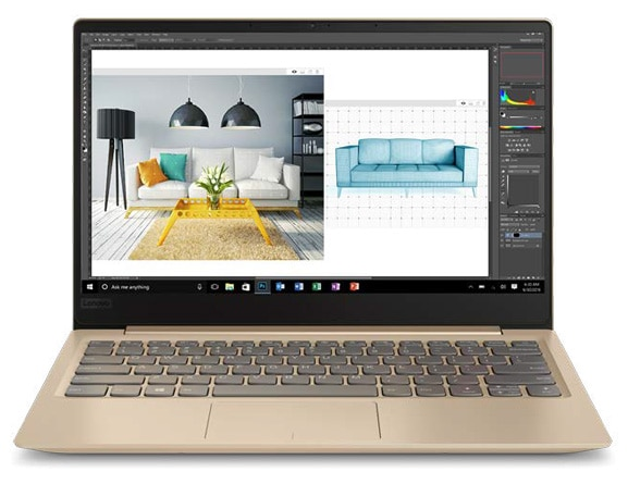 Lenovo Ideapad 320S (13) in Gold, Front View