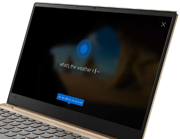 Lenovo Ideapad 320S (13) in Gold, Front Right View Featuring Windows 10