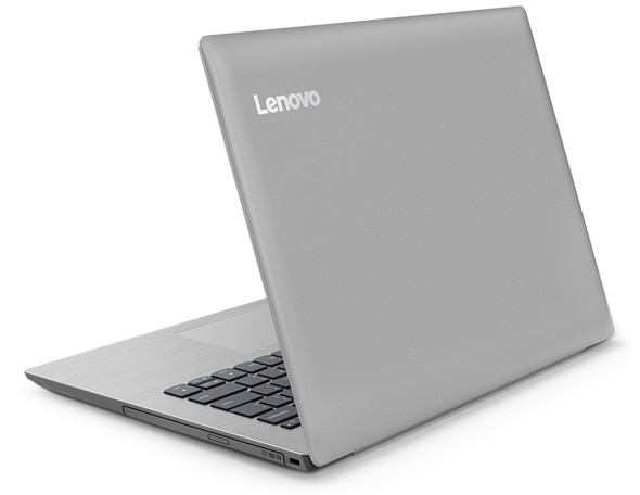 Lenovo Ideapad 330 (14), right back view, showing DVD drive.
