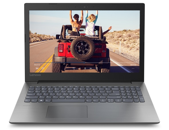 Lenovo Ideapad 330 (15), front view, open, showing display, keyboard, and touchpad.