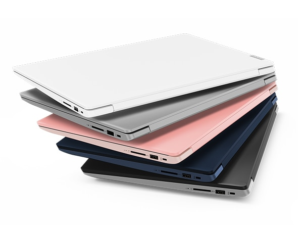 Lenovo Ideapad 330S (15), closed models stacked up in different colors.
