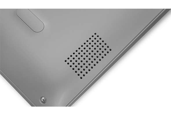 Lenovo Ideapad 330S (15), closeup of speaker.