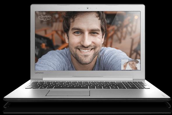 Az élénk színű 15,6 hüvelykes kijelző ideális Skype-hoz, filmnézéshez vagy játékokhoz.