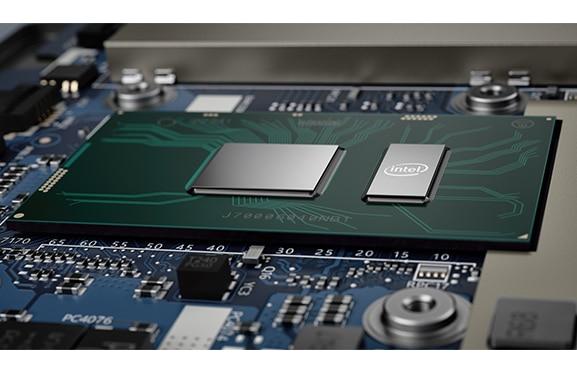 Lenovo Ideapad 530S: closeup of Intel processor