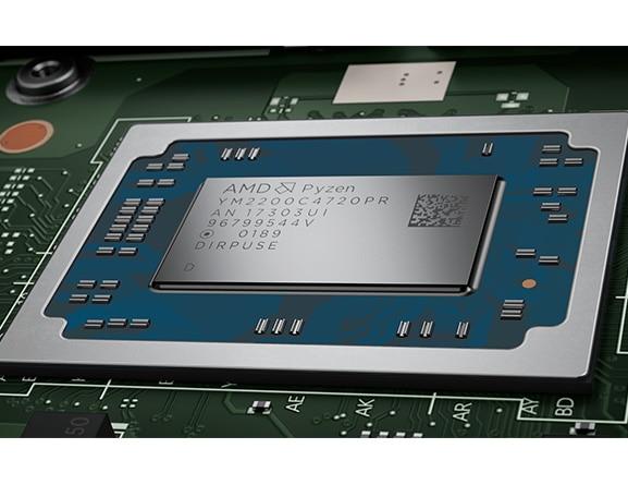 Lenovo Ideapad 530S (14), closeup of AMD Ryzen processor.