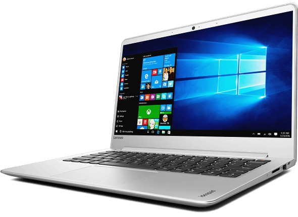 Lenovo Ideapad 710S Front Right Side View Featuring Windows 10