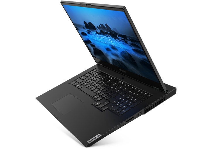 Lenovo Legion 5 17 laptop side view