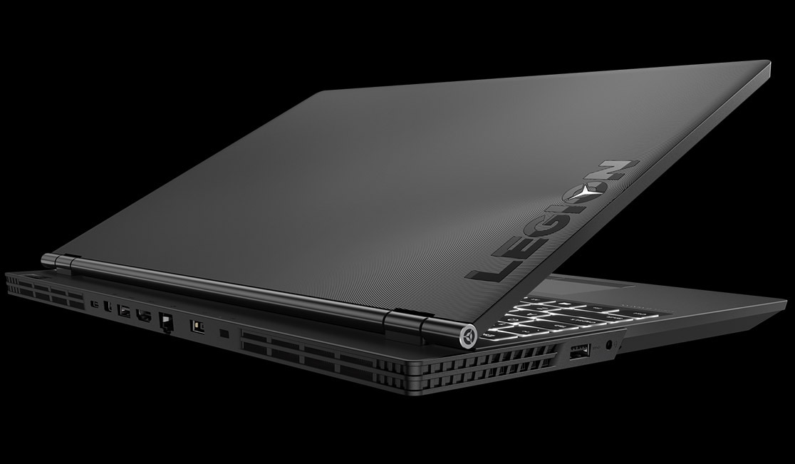 Lenovo Legion Y530 gaming laptop - rear 3/4 view
