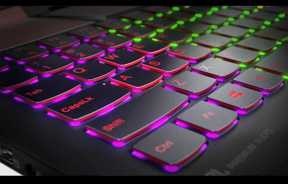 Lenovo Legion Y720 Programmable Backlit Keyboard Detail