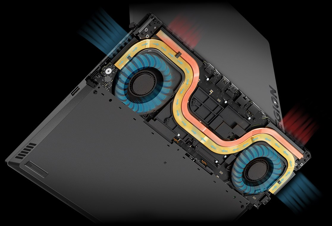 Legion Y530 15-inch gaming laptop - diagram of fans