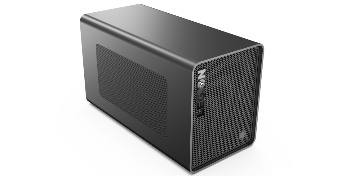 A side view of the Lenovo Legion BoostStation Graphics Booster