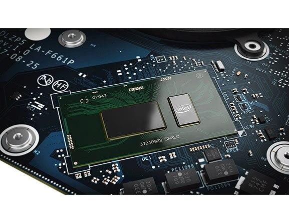 Lenovo Yoga 730 (13) laptop, processor closeup