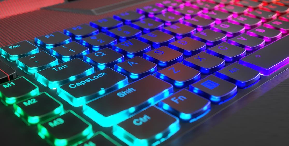 Lenovo Legion Y920 mechanical backlit keyboard detail