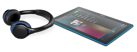 Lenovo Tab 10 Tablet with headphones