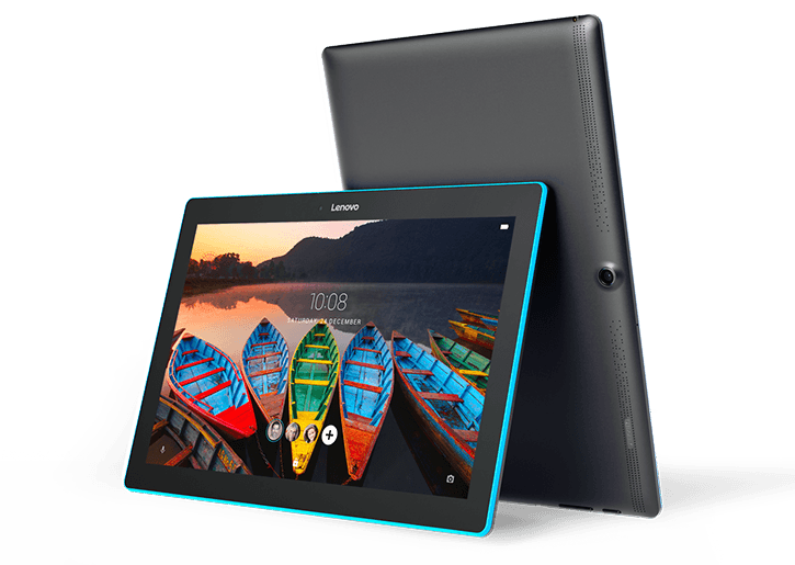 Lenovo Tab 10 Tablet - front and back angle views