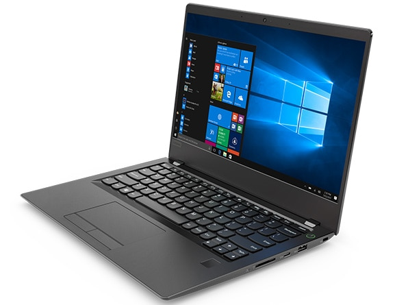 Lenovo V730 (13) front right side view featuring Windows 10 Pro