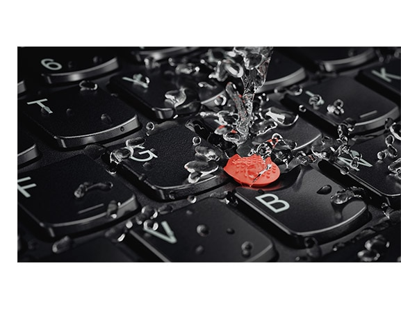 Lenovo ThinkPad A275 Detail View of Water-Resistant Keyboard