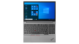 Thumbnail image of overhead view of silver Lenovo ThinkPad E15 Gen 2 open 180 degrees