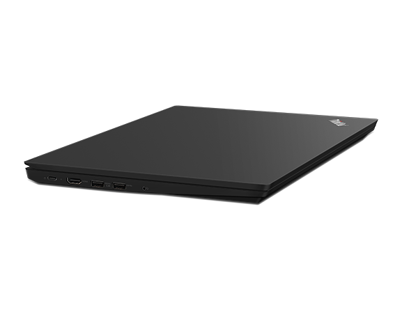 Lenovo ThinkPad E490 SMB laptop in Black, with closed cover.
