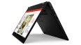 Thumbnail image of left three-quarter view of black Lenovo ThinkPad L13 Yoga Gen 2 in tent mode