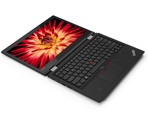 ThinkPad L380 Yoga enterprise 2-in-1, open 180 degrees