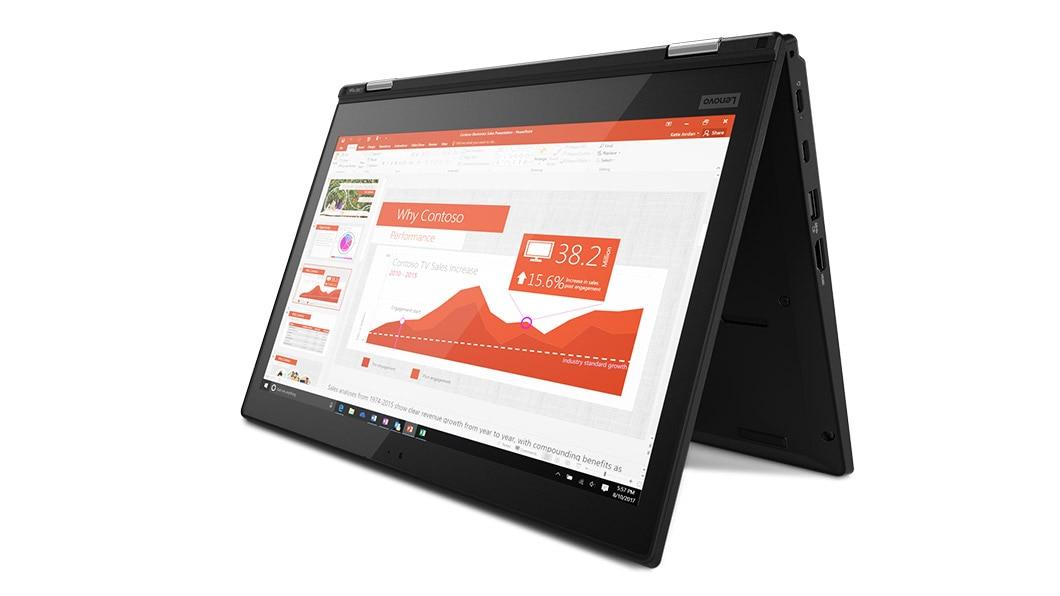 b776efeabf2089 ThinkPad L380 Yoga enterprise 2-in-1 in Tent Mode ...