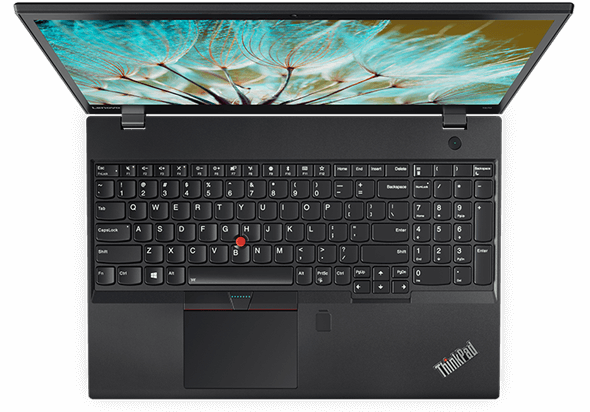 Lenovo ThinkPad P51s Overhead View Open