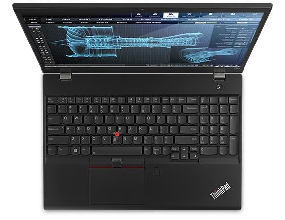Vue aérienne du Lenovo ThinkPad 52s