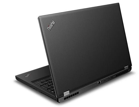 Back angle view of the  Lenovo ThinkPad P53 laptop