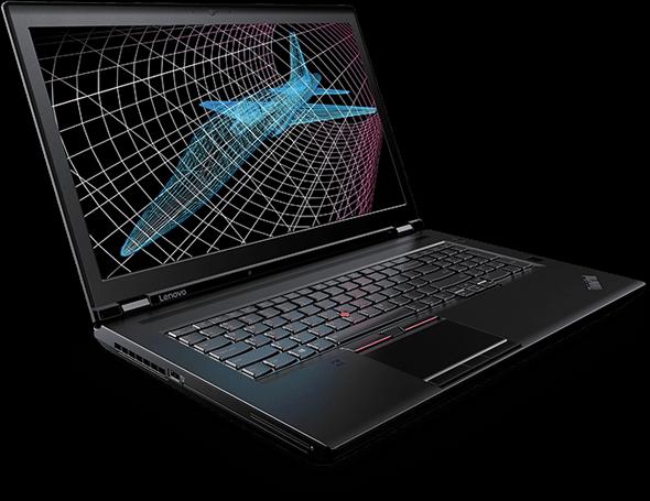 Lenovo ThinkPad P71 Mặt trước bên trái