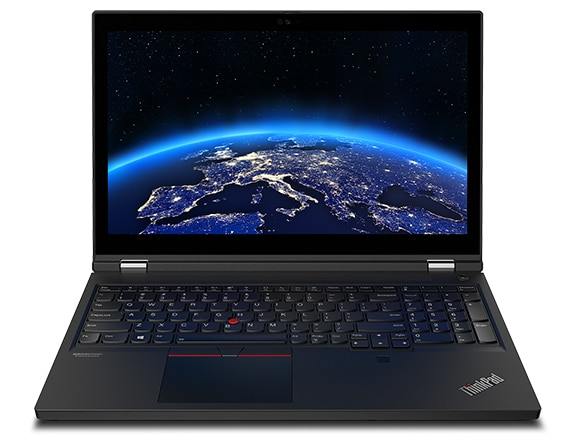 ThinkPad T15g laptop, front view showing keyboard & display