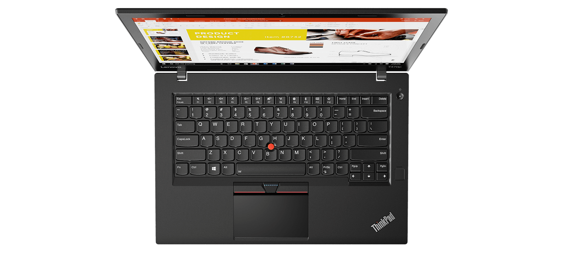 Lenovo ThinkPad T470p Overhead View