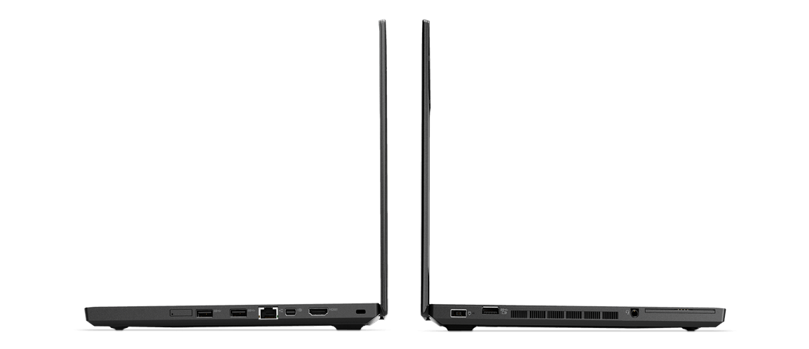Lenovo ThinkPad T470p Two Back-to-back Side View